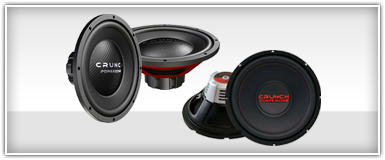 Crunch 12 Inch Subwoofers